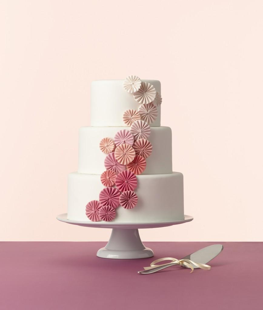 Crafty Cakes, cake, white, pink, flowers