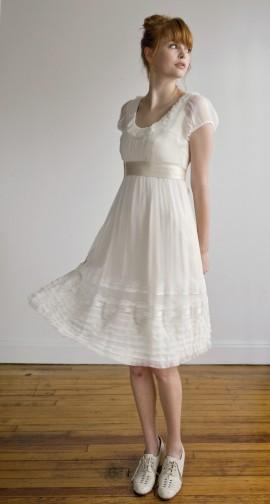 Dresses with Drama, dress, white, short, knee-length