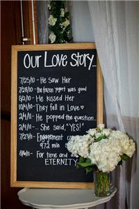 Miscellaneous. Share your _Love Story_ with your guests with the simple aid of a blackboard!