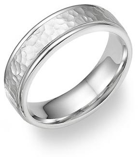 White Gold Wedding Bands, For Him