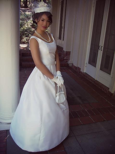 My Wedding Look, hat, veil, wedding dress, white, pearls