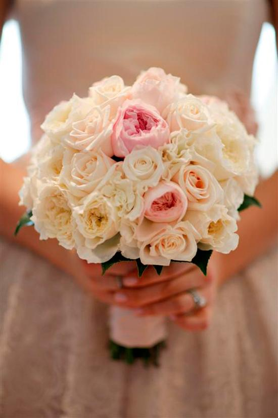 Flowers, bouquet, pink, white