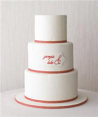 Cakes. wedding cake, red, white