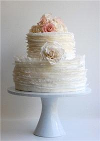 Cakes. wedding cake, texture, ruffles, flowers