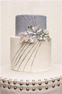Cakes. wedding cake, white, silver, grey