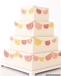 Cakes. wedding cake, pink, yellow