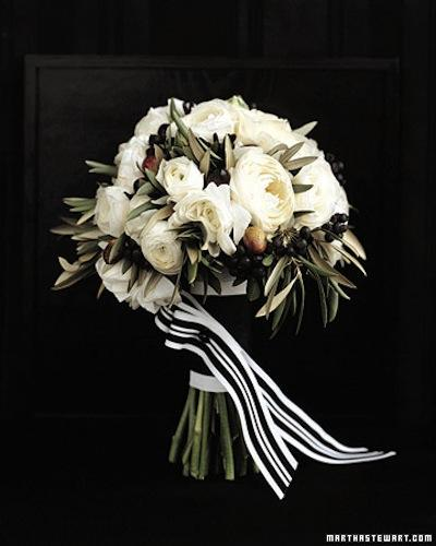 Flowers, bouquet, flowers, black, white