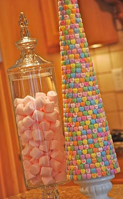 DIY Details, Learn how to DIY this cute candy tree here: http://www.amandajanebrown.com/2012/01/conv