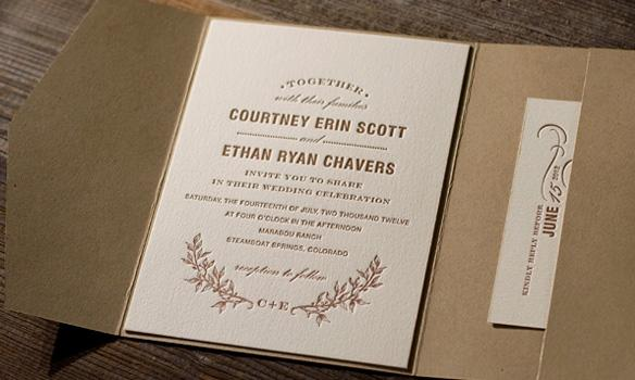 Bella Figura Letterpress, Branch letterpress is the portrait of an eco friendly letterpress wedding