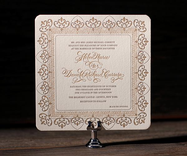 Bella Figura Letterpress, Claddagh LetterpressOrnate elegance with refined script, Claddagh is a