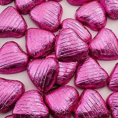 Wedding Accessories, 5g Foil wrapped Chocolate hearts. Approx. Quantity of box 94.Ingredients: S