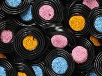 Wedding sweets, These tasty liquorice wheels are only for ladies by the name of Catherine.... NOT!