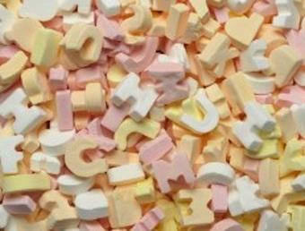 Wedding sweets, Make up what ever word you want with _Candy Letter_