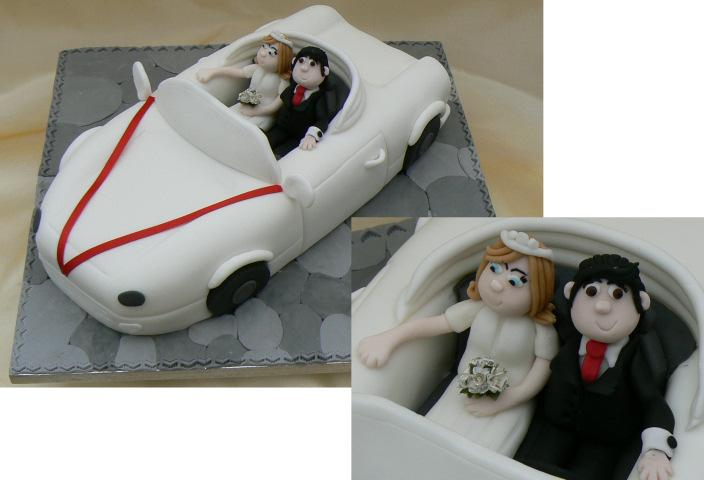 Cakes, Sports Car Novelty Wedding Cake (eight different cake flavours available). All cakes are hand