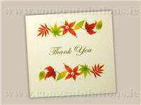 Stationery. Autumn Breeze ivory thank-you card