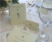 Stationery. Celtic ivory table number