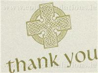 Stationery. Celtic ivory thank-you card