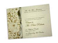 Stationery. Vintage lace (ivory) evening invite