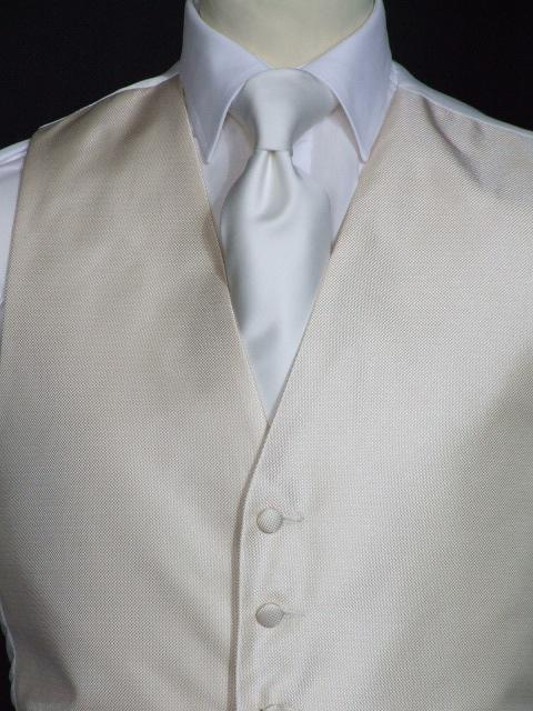 Attire, Life Gold Wedding Waistcoat Large. May be worn with a cravat or tie.