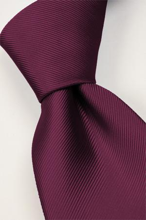 Attire, Tie (aubergine). Connexion ties are hand finished to the highest quality and are 100% silk.