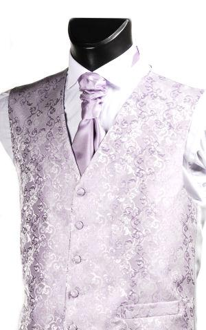 Attire, Lilac Brocade Waistoat