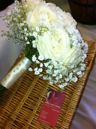 Flowers, Baby's breath and roses. Flowers directly imported from Holland to ensure that only the fre