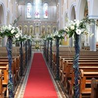 Ceremony Decor, Traditional pew ends.