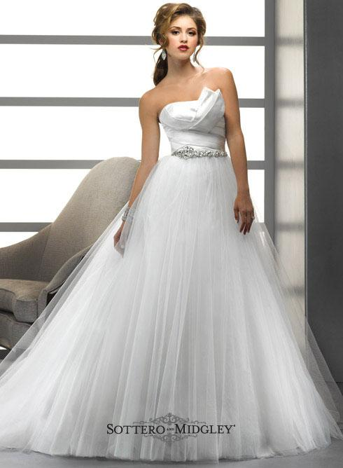 Bridal Dresses, Lady Joanna wedding dress. Sophisticated romance presented in a tulle and Soft Shimm