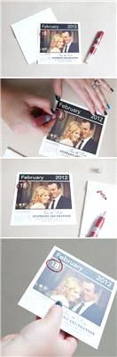 Stationery. Save the date calender idea