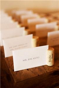 Stationery. Placement cards & wine cork holders