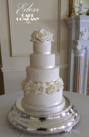 Wedding Cakes, Champagne Rose Wedding Cake www.edencakecompany.com   Meath, Dublin, Louth,