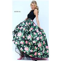 https://www.petsolemn.com/sherrihill/3030-long-two-piece-dress-with-lace-top-and-floral-print-skirt-