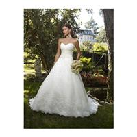 Sweetheart Organza Ball Gown Natural Waist Chapel Train Classic Wedding Gowns - Compelling Wedding D