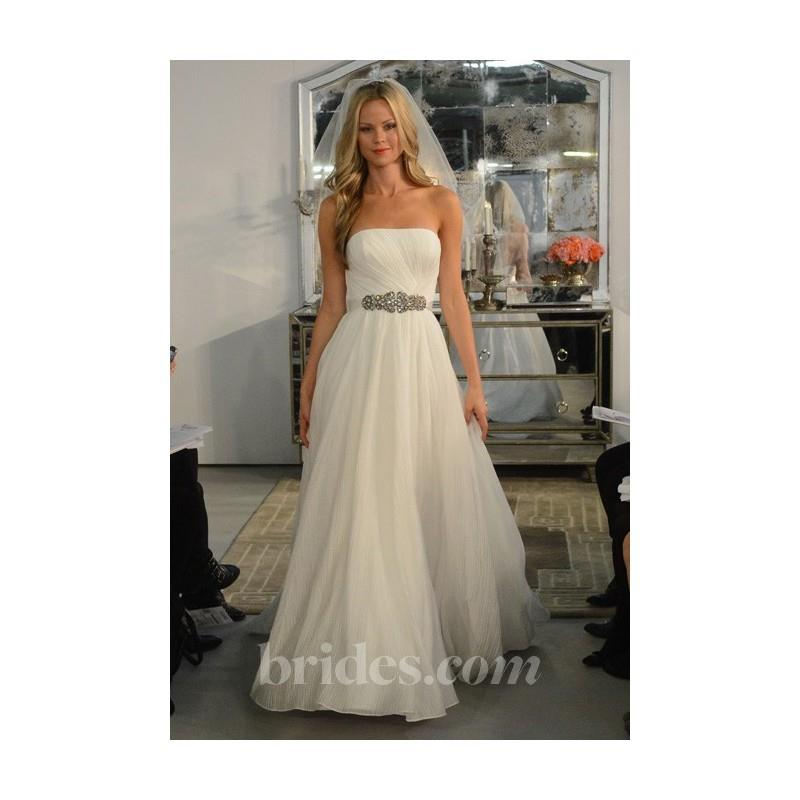 wedding, Watters - Spring 2013 - Francisca Strapless A-Line Wedding Dress with a Ribbon Sash - Stunn