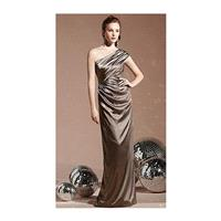 Dessy Social One Shoulder Long Bridesmaid Dress 8118 - Brand Prom Dresses|Beaded Evening Dresses|Cha