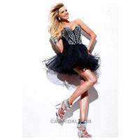 2017 Graceful Sweetheart A-line/Princess Mini/Short Crystals Organza Homecoming Dress - dressosity.c