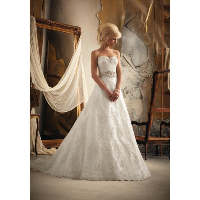 My Stuff, White/Silver Mori Lee Bridal 1913 - Brand Wedding Store Online