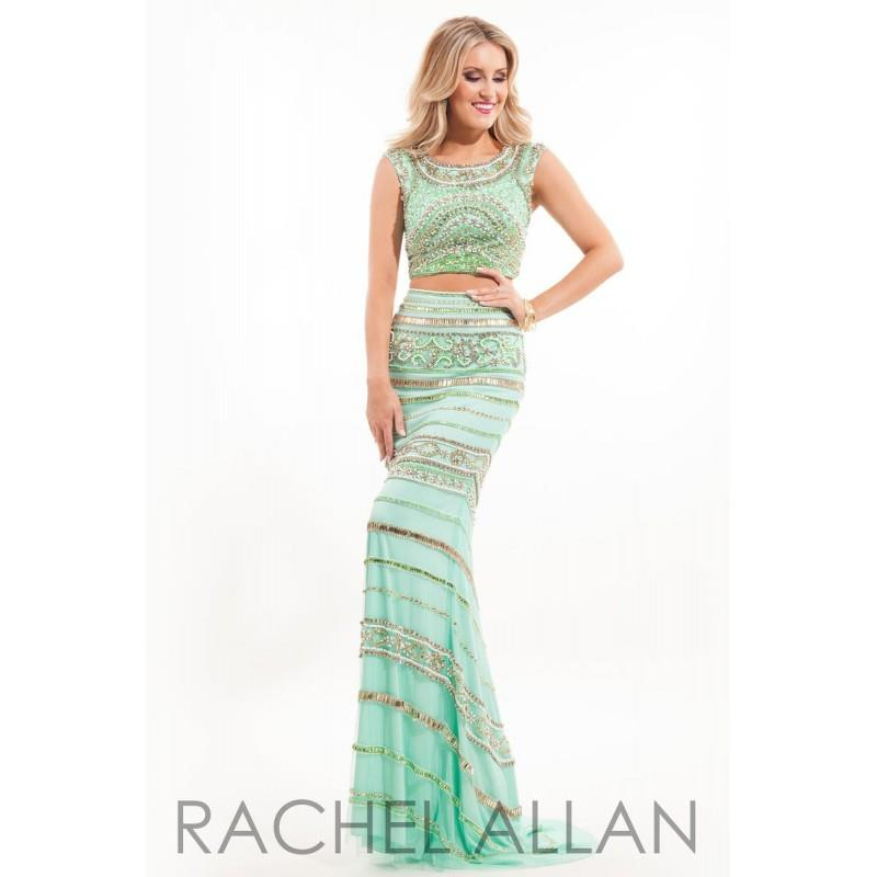 wedding, Rachel Allan Prom 7089 Fuchsia,Mint Green,White/Royal Dress - The Unique Prom Store