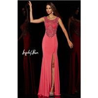 Angela and Alison Long Prom 51008 Watermelon,Apricot,Ice Blue Dress - The Unique Prom Store