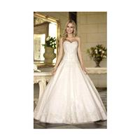 Charming A-line Strapless Beading&Sequins Lace Sweep/Brush Train Tulle Wedding Dresses - Dressesular