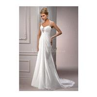 Pleasant Long Chiffon Sheath/ Column Empire Chapel Train Bridal Dresses - Compelling Wedding Dresses