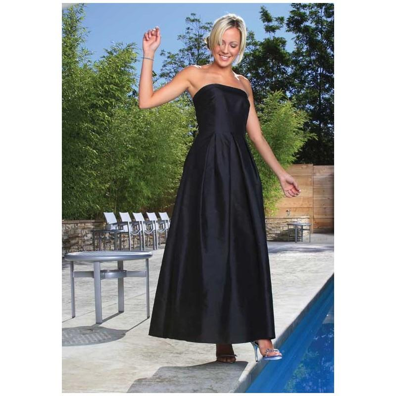 My Stuff, 2017 Simple Design Satin Strapless Black Floor Length Inexpensive Bridesmaid Dress In Cana