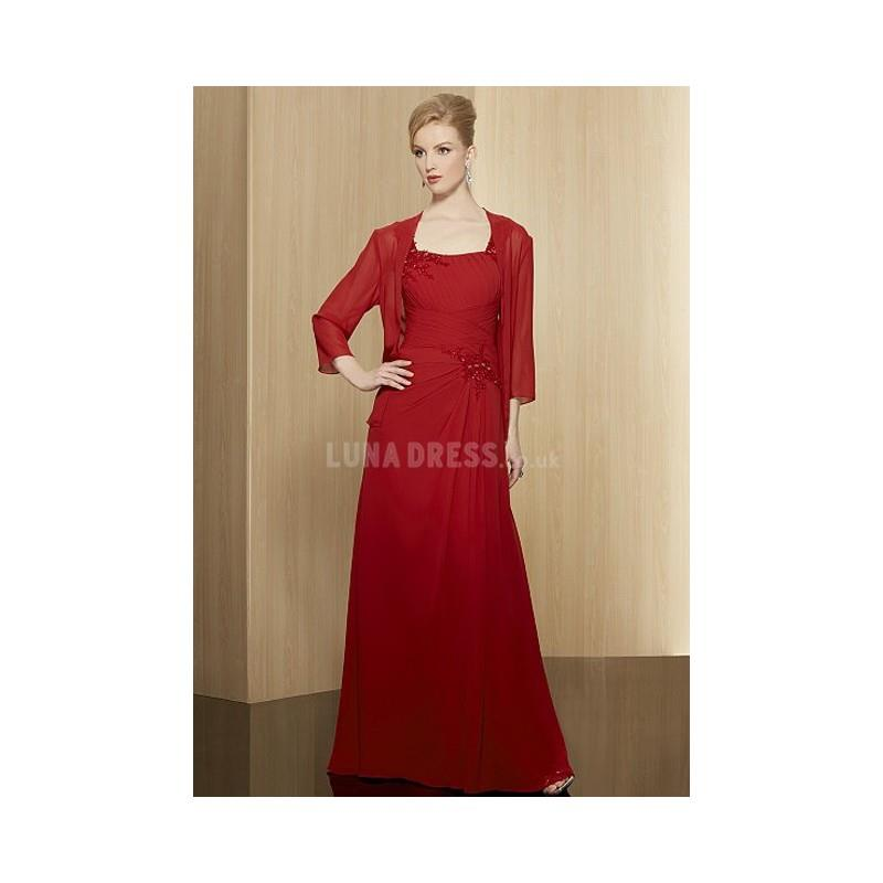 My Stuff, Grand Straps A line Sleeveless Red Mother of the Bride Dress - Compelling Wedding Dresses|