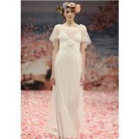 Nectarean A-line Spaghetti Straps Lace Floor-length Chiffon Wedding Dresses - Dressesular.com