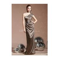 Chic Elastic Silk Like Satin One Shoulder Sheath/ Column Bridesmaid Dress - Compelling Wedding Dress