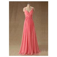 Chic Chiffon Sweetheart Neckline Floor-length A-line Prom Dress - overpinks.com