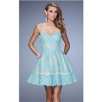 Lace Mini Dress by La Femme 21446 - Bonny Evening Dresses Online