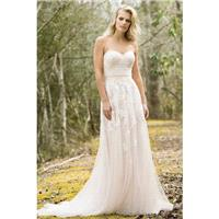 Style 6461 by Lillian West - A-line Sleeveless Sweetheart LaceTulle Floor length Chapel Length Dress