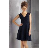 Navy Lace Bridesmaids Dress by Affairs by Mori Lee - Color Your Classy Wardrobe