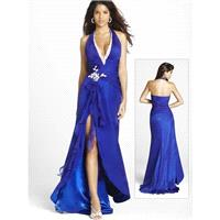 A-line Halter Beading Sleeveless Asymmetrical Chiffon Prom Dresses / Evening Dresses In Canada Prom